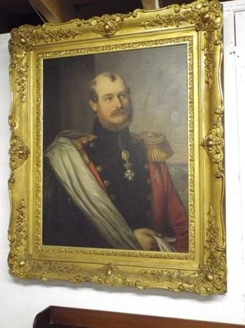 FINE OIL PORTRAIT OF PRINCE CONSTANTINE OF WALDBURG ZEIL TRAUCHBURG OF GERMANY BORN 1807 DIED 1862.
