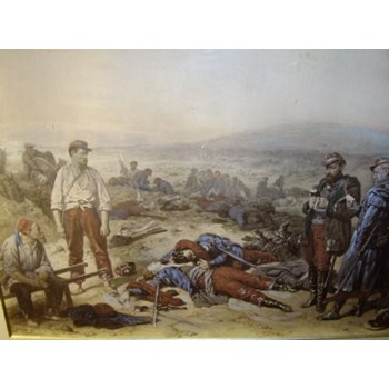 "CRIMEAN WAR SCENE TITLED ""THE TWO FRIENDS"" AND DEPICTING THE BATTLE OF SEBASTAPOL."