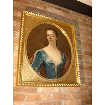17THC.OIL PORTRAIT PAINTING OF A LADY CIRCLE OF GODFREY KNELLER ENGLISH SCHOOL C1680-1700.