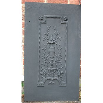 Two early 19th century cast iron panels by the Carron Foundry