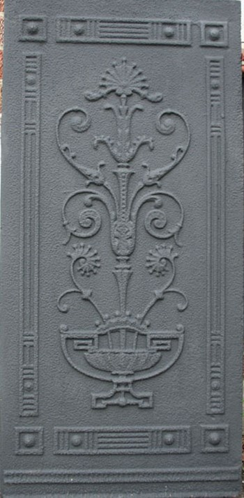 Three late 19th century decorative cast iron panels