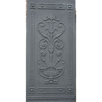 Three late 19th century decorative cast iron panels