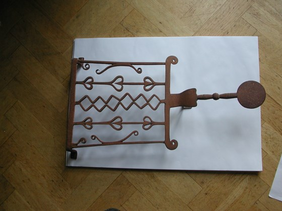 18th century wrought iron Trivet probably Scottish
