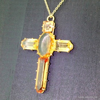 Victorian 15.00 Carat Imperial Topaz Crucifix Pendant, circa 1900