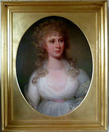 Portrait of a Young Lady c.1795; Circle of Richard Cosway.