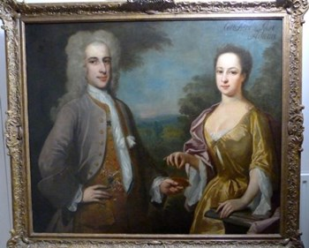 Double portrait of Colonel and Mrs. Adams c.1720; Attributed to Charles Jervas.
