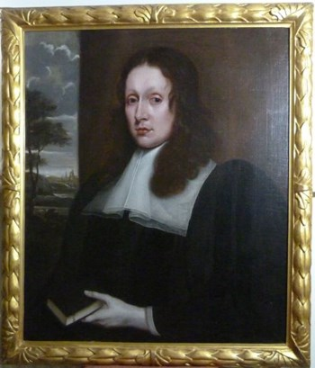 Pair of Portraits of Dr. Nathaniel Johnston c.1653: Attributed to John Hayls.