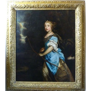 Portrait of Princess Mary of York as Diana, Goddess of the Hunt, after Sir Peter Lely.