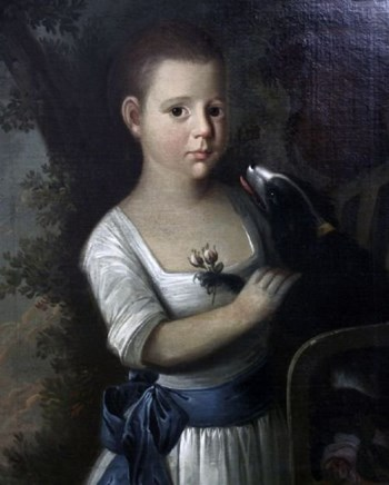 Portrait of a Young Boy and his Dog c.1775; English School.
