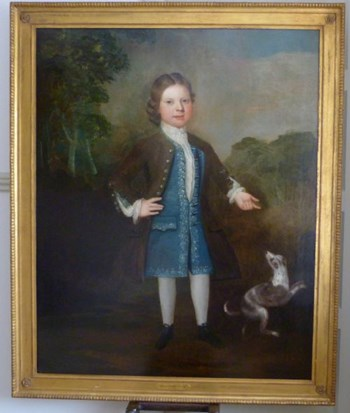 Portrait of a Young Boy and His Dog, early 18th century: English School.