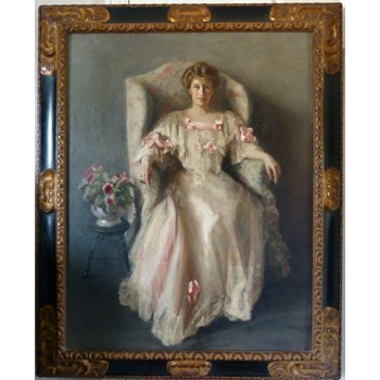 Portrait of a Lady in White 1906 by Margaret Kemplay Snowden .