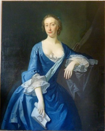 Portrait of a Lady in Blue c. 1730 by Charles Jervas.