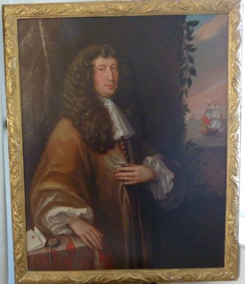Portrait of John Shute Barrington, 1st Viscount Barrington; Circle of John Michael Wright.