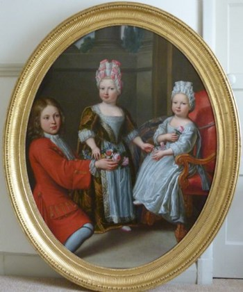 Portrait of Three French Aristocratic Children c.1690; Attributed to Pierre Mignard.
