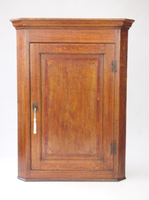 Antique Georgian Oak Corner Cupboard