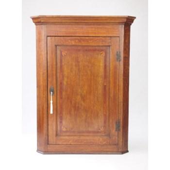 Antique Georgian Oak Corner Cupboard