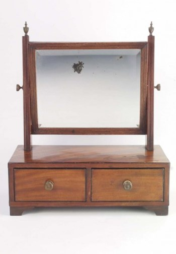 Small Antique Regency Dressing Table Mirror
