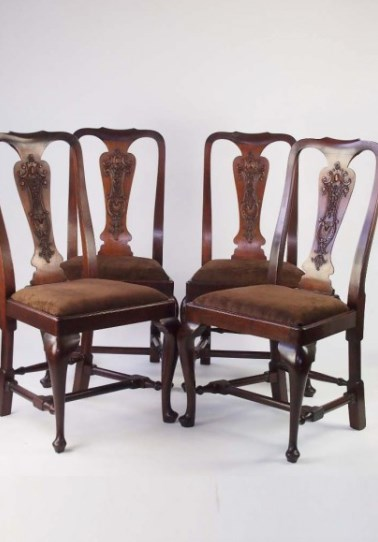 Set 4 Antique Edwardian Dining Chairs