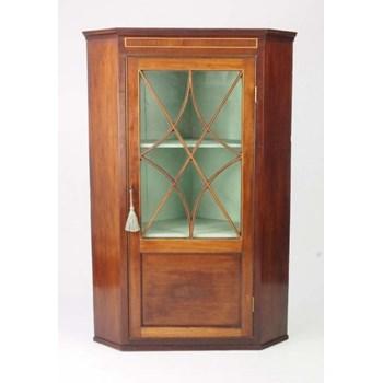 Antique Georgian Mahogany Corner Cupboard