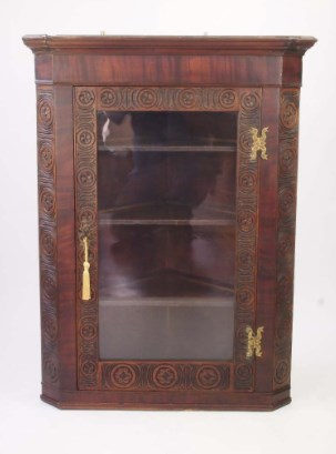 Antique George III Corner Cupboard / Hanging Display Cabinet