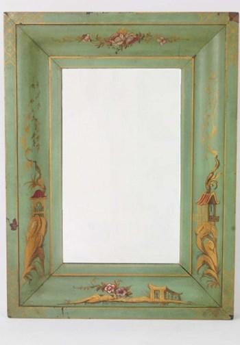Antique Edwardian Chinoiserie Mirror