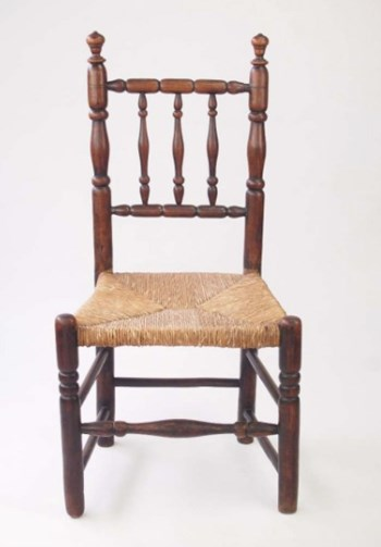 Antique Ash Rail Back Side Chair