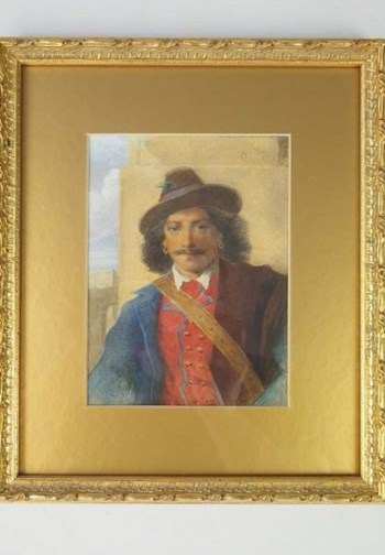 Small 19th Century English School Watercolour of a Gentleman