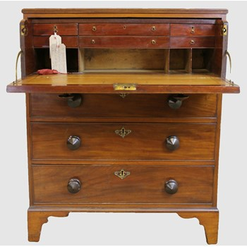 George III Mahogany Secretaire Chest