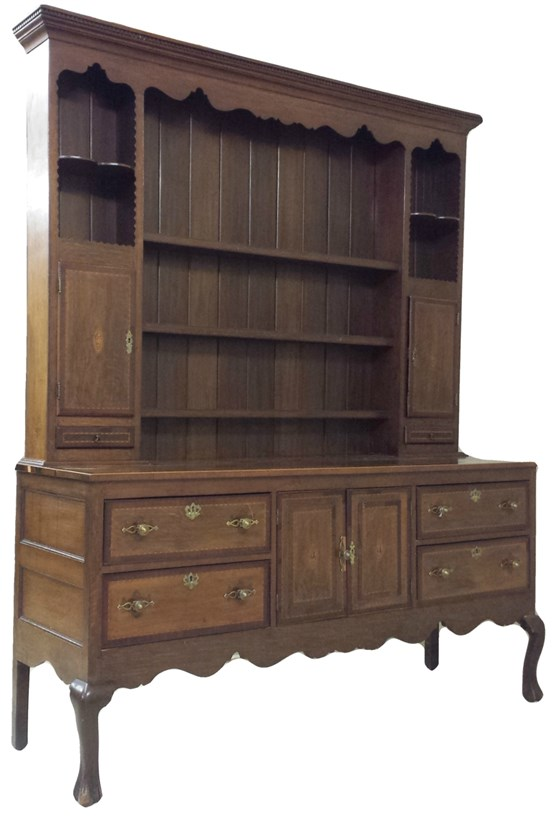 George III Oak Two Height Dresser