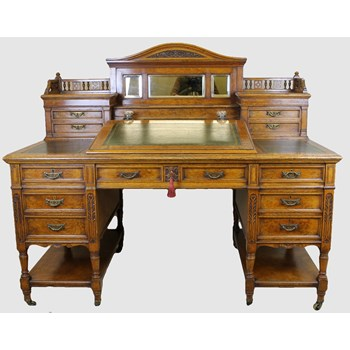 Victorian Light Oak Desk