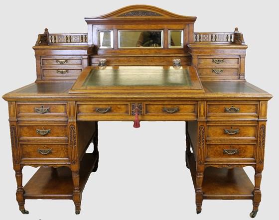 Victorian Light Oak Desk