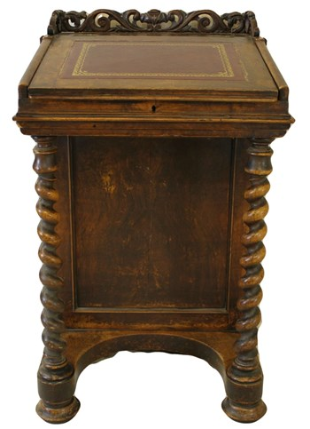 Victorian Walnut Davenport Writing Desk