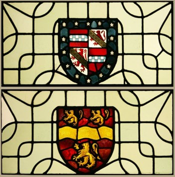Victorian stained glass - Heraldic - Coat of Arms - Armorial