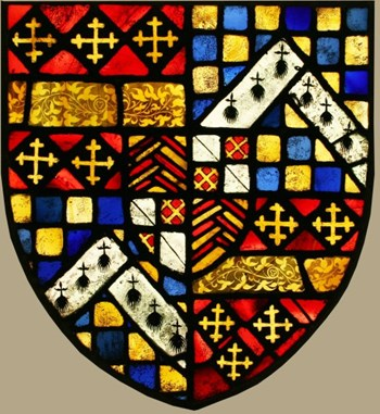 Victorian stained glass - Heraldic - Coat of Arms - Armorial.