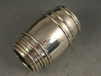 Victorian Novelty Silver Barrel Pepper or Sander