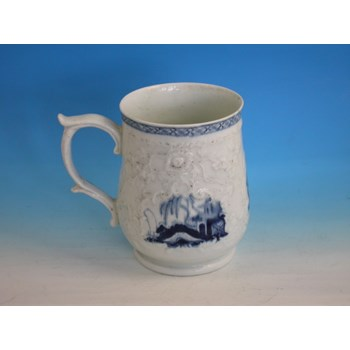 PHILIP CHRISTIANS LIVERPOOL RELIEF MOULDED MUG c1766 - 1772.