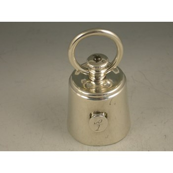 Victorian novelty silver Pepper Grinder in the form of a 1lb weight