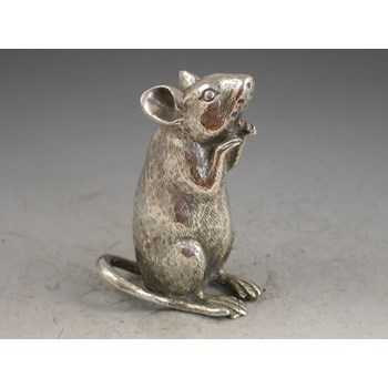 Victorian Novelty Mouse Silver Pepper - By Saunders & Shepherd, London, 1889
