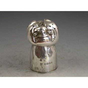 Victorian Novelty Silver Pepper, made in the form of a Champagne Cork