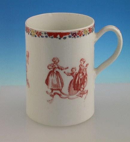 BOW CHILDRENS GAMES MUG BOW PORCELAIN c1755 - 1756